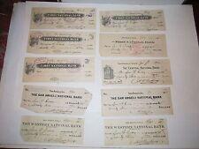 (4) EARLY 1900'S CANCELLED BANK DRAFTS/CHECKS - SEE PICS - NICE - TUB BN-14