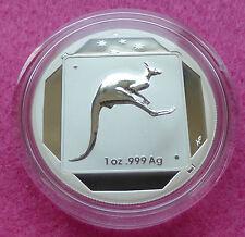 2015 Roadsign Australia Kangaroo $1 UN DOLLARO ARGENTO SATINATO BU 1oz MEDAGLIA BOX
