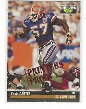 1995 PRO LINE FOOTBALL PRINTER'S PROOF KEVIN CARTER RC #124 ST. LOUIS RAMS /400