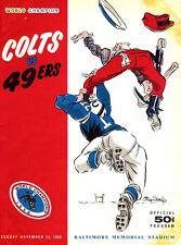 1959 BALTIMORE COLTS VS SAN FRANCISCO 49'RS PROGRAM 8X10 PHOTO