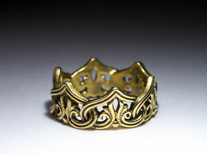 Crown Ring, Celtic Knot, brass, size 17 / US 6.5