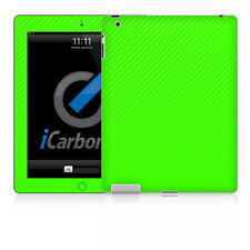 iPad Skin (2nd & 3rd Gen) - Green Carbon Fibre skin by iCarbons
