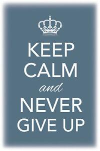 Keep Calm and never give up Blechschild Schild Metal Tin Sign 20 x 30 cm CC0458