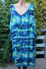 AUTOGRAPH Blue Tones Cocktail DRESS Layered Overlay. Size 18 NEW RRP-$99.99 NEW.