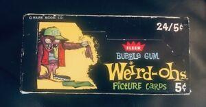 1965 FLEER WEIRD OHS FULL GUM CARD WAX BOX WITH 24 UNOPENED MINT WAX PACKS
