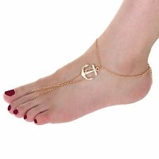 Ankle Bracelet Chain Link Foot Jewelry Ag Hot Fashion Sexy Anchor Beads Toe Ring