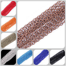 Lot 5/100M Cable Open Link Iron Metal Chain 0.7x3x2mm 13 Colors
