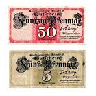 Adorf Notgeld 2 Scheine. Los 1499. schoeniger-notgeld