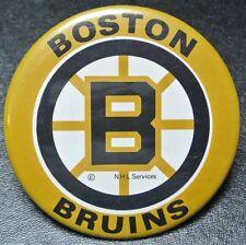 Vintage Original BOSTON BRUINS NHL PINBACK BUTTON - 1970's - Nice
