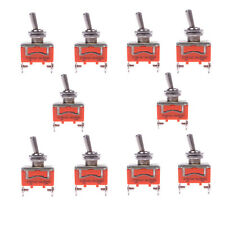 10Pcs Interruptor Palanca 2-Pin 15A 250V AC  ON-OFF Toggle electrónica switch