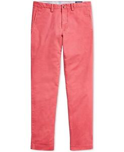 Polo Ralph Lauren Mens Classic Fit Chino Pants Nantucket Red