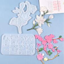 Molde de Silicona Flor Joyería para armar uno mismo de resina epoxi Artificial Flor Artesanía decortion Lz