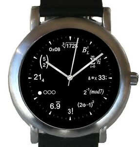 """""""Mathematics Dial"""" Theme Watch Has Physics Equations At Each Hour Indicator"""