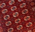 """5'8""""x6'1"""" Very fine, cranberry red square Vintage Tekke Hand-knotted Wool Rug"""