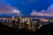 HONG KONG SKYLINE CITYSCAPE POSTER STYLE G 24x36 HI RES