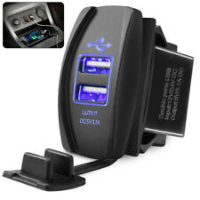 12-24V 3.1A DC Dual LED USB Car Auto Power Supply Charger Port Socket Waterproof