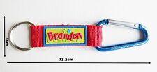 Brandon name Bright key ring personalized keychain split keyring colorful