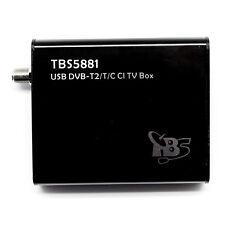TBS5881 DVB-T2 T C USB TV Box With CI Slot For Encrypted Pay TV