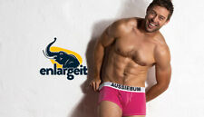 NEW STYLE SEXY AUSSIEBUM WJ 'ENLARGE-IT' HIPSTER TRUNKS CORAL PINK LARGE