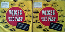 """VOICES FROM THE PAST - DWIGHT D. EISENHOWER - (2) 7"""" LOT + PIC. SLEEVES - 33 1/3"""