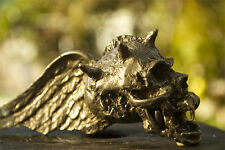 Flying Skull bronze necklace pendant gothic medieval by artist