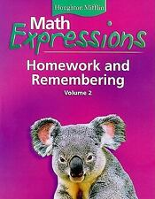 NEW - Math Expressions: Homework and Remembering, Grade 1, Vol. 2