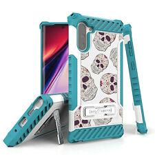 For Galaxy S10 S9 S8 Note 10 9 Hybrid Tri Shield Armor Case Sugar Candy Skull