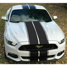 Carbon Fiber Body Hood Rear Trunk Racing Rally Stripes Decals For Ford Mustang