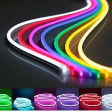 12V tira de LED Flexible Impermeable signo Tubo Silicona las luces de neón 1M 2M 3M 5M EE. UU.