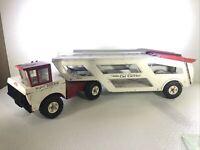 Mighty Tonka Car Carrier 2 Piece Semi truck Steel Toy Truck
