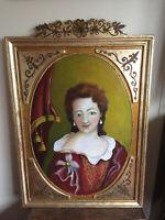 tableau ancien huile sur panneau INCONNU (début XXe-s) portrait