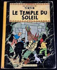 "TINTIN ""LE TEMPLE DU SOLEIL"" - EDITION B13 FRANCE 1955 - BON ETAT"