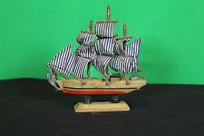 Decorative Collectible Wooden Model 18th Century Sailing Ship Pirate Cutter