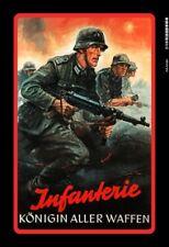 Infantería alemana 2. soldados guerra mundial chapa escudo Escudo Tin sign 20 x 30 cm