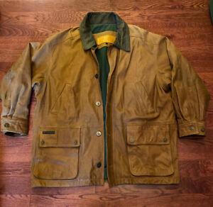 Timberland Men's Waterproof Cowhide Leather Brown Field Jacket Men's Size XL