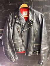 """1970's Vintage Lewis Leathers Aviakit Leather Motorcycle Jacket size Medium """"40"""""""