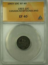 1903 Canada Newfoundland 10c Ten Cents Silver Coin ANACS EF-40