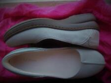 L.L. BEAN  SHOES BABY BLUE SUEDE LEATHER WEDGE LOAFERS !SIZE 7M /37 !