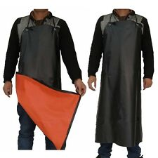 Waterproof Full Apron PVC Coated Garden Kitchen Butcher Cleaning Wear Unisex New