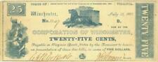 Winchester VA 25 Cents City Obsolete Currency Banknote 1861