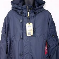 Alpha Industries Mens N-3B Parka Jacket Coat Bomber Flight Ambrose Blue Size 3XL