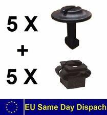 5+5 Set Halteklammer Motorschutz Unterschutz Schraube Clip Audi A4 A6 VW Passat