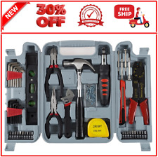 Stalwart 130-Piece Household Hand Tool Set Essential Home Tools Kit DIY Projects