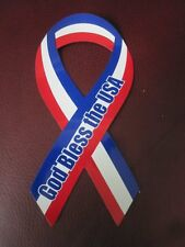 God Bless the USA Support Our Troops Car Refrigerator Ribbon Magnet Small Large