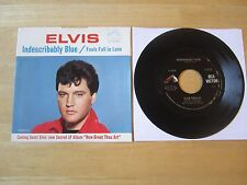 Elvis 45rpm record & Picture Sleeve, Indescribably Blue, RCA # 47-9056, 1967