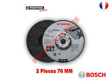 BOSCH 2 disques à ébarber pour inox BOSCH, Diam.76 GWS12V-76 et Parkside PWSA 12