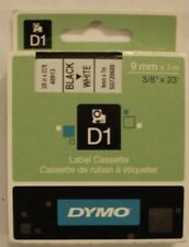 Dymo D1 40913 Black/White S0720680 9mm pour LabelPoint LabelManager LabelWriter