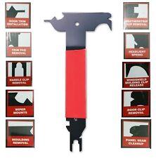 Vehicle 10-in-1 Trim Removal Tool Multi-Purpose Hardened Steel Soft Grip Handle