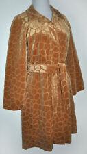 "Newport News Textured ""Giraffe"" Camel Tan Soft Velvety Velour Coat Jacket L NEW"