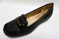 Circa Joan David FINTON Moc toe black leather dress casual loafers 6 7.5 8 8.5